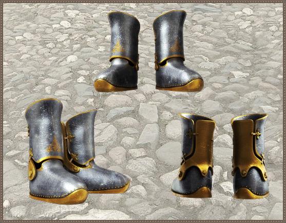 Позолоченные ботинки