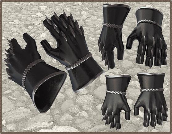 Шипованные перчатки великана